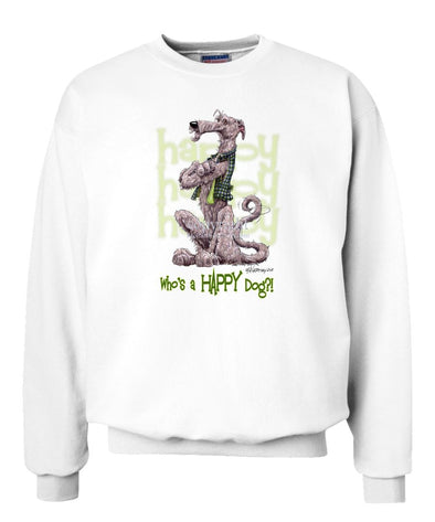 Irish Wolfhound - Who's A Happy Dog - Sweatshirt