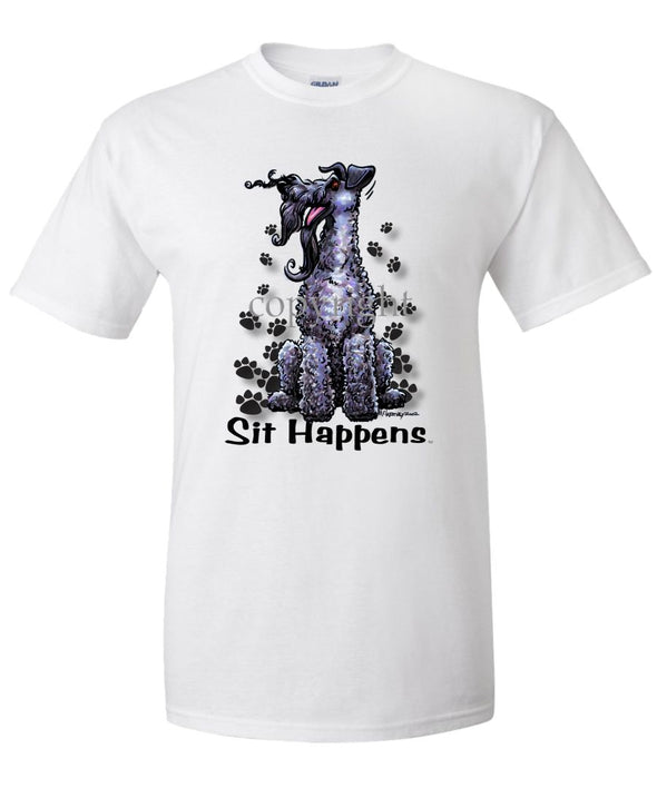 Kerry Blue Terrier - Sit Happens - T-Shirt