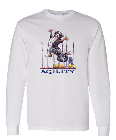 Bernese Mountain Dog - Agility Weave II - Long Sleeve T-Shirt