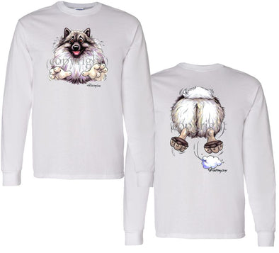 Keeshond - Coming and Going - Long Sleeve T-Shirt (Double Sided)