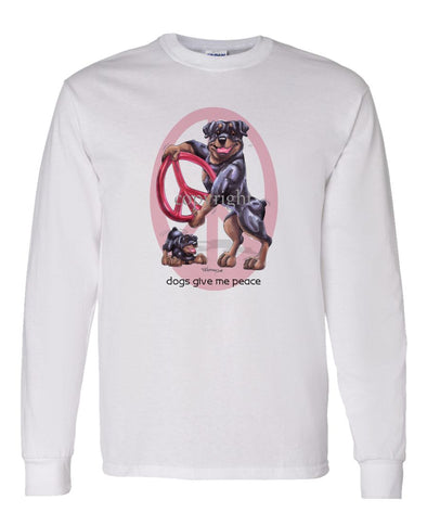 Rottweiler - Peace Dogs - Long Sleeve T-Shirt