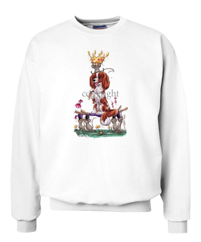 Cavalier King Charles - With Mice And Crown - Caricature - Sweatshirt