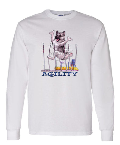 Norwegian Elkhound - Agility Weave II - Long Sleeve T-Shirt