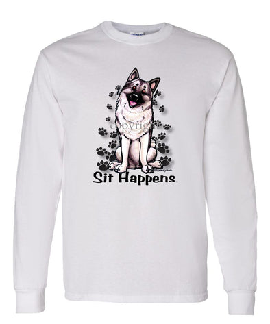 Norwegian Elkhound - Sit Happens - Long Sleeve T-Shirt
