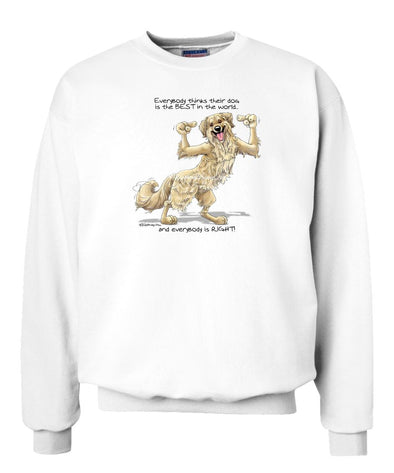 Golden Retriever - Best Dog in the World - Sweatshirt