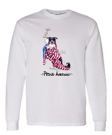 Border Collie - Proud American - Long Sleeve T-Shirt