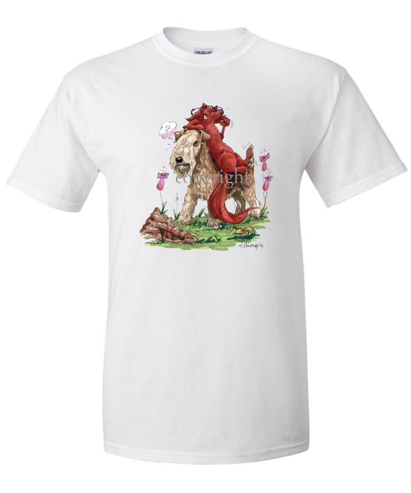 Lakeland Terrier - With Fox - Caricature - T-Shirt