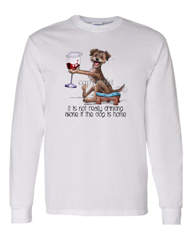 Border Terrier - It's Not Drinking Alone - Long Sleeve T-Shirt