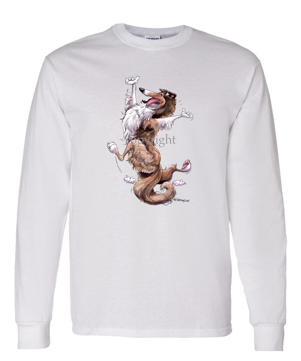 Collie - Happy Dog - Long Sleeve T-Shirt