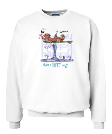 Nova Scotia Duck Tolling Retriever - Who's A Happy Dog - Sweatshirt