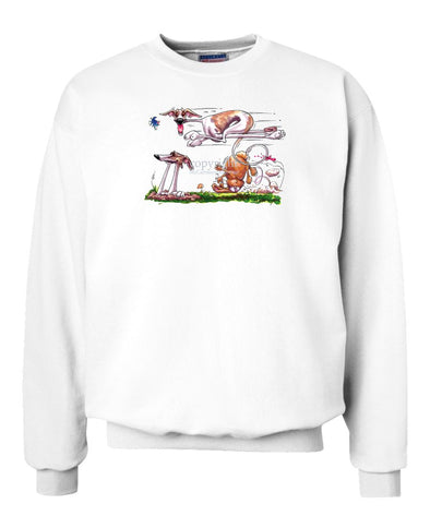 Whippet - Running Over Rabbit - Caricature - Sweatshirt