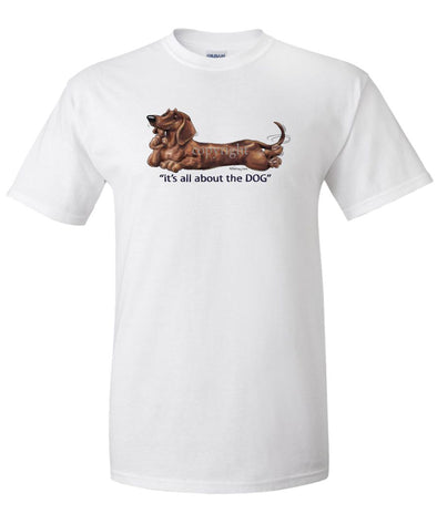 Dachshund  Smooth - All About The Dog - T-Shirt