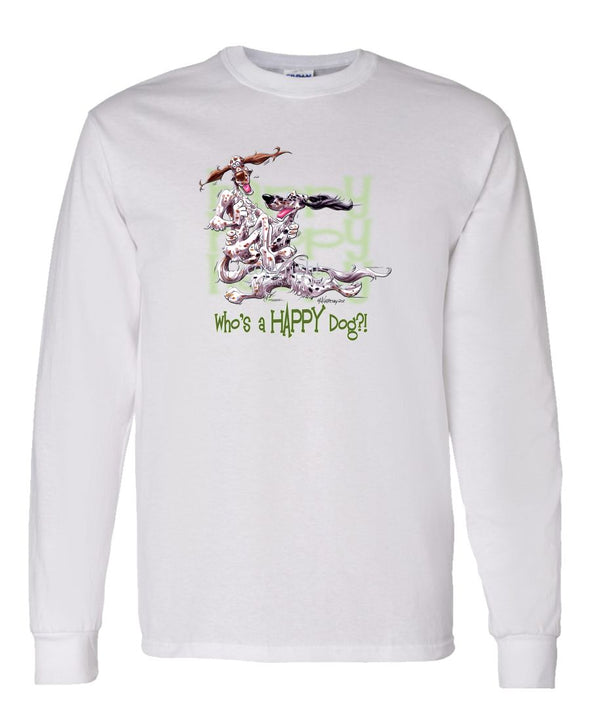 English Setter - Who's A Happy Dog - Long Sleeve T-Shirt