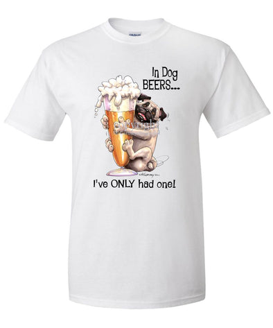 Pug - Dog Beers - T-Shirt