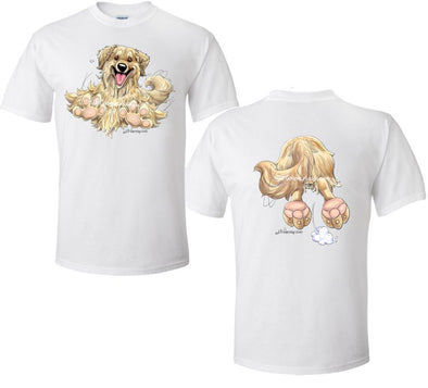Golden Retriever - Coming and Going - T-Shirt (Double Sided)