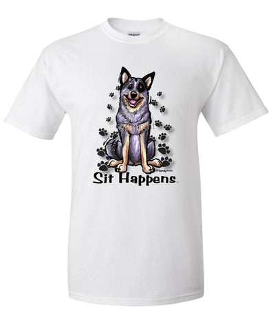 Australian Cattle Dog - Sit Happens - T-Shirt
