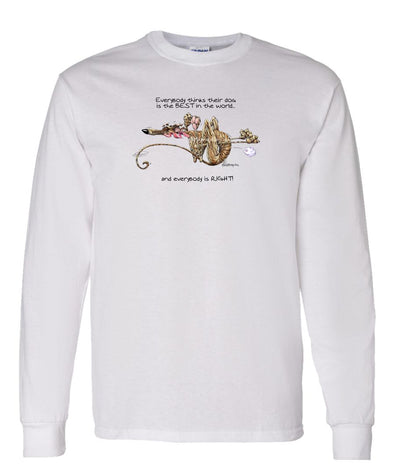 Greyhound - Best Dog in the World - Long Sleeve T-Shirt