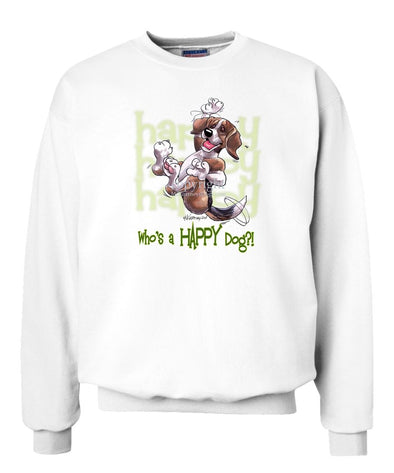 Beagle - Who's A Happy Dog - Sweatshirt