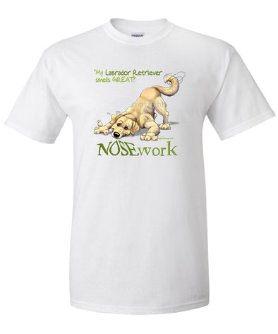 Labrador Retriever  Yellow - Nosework - T-Shirt