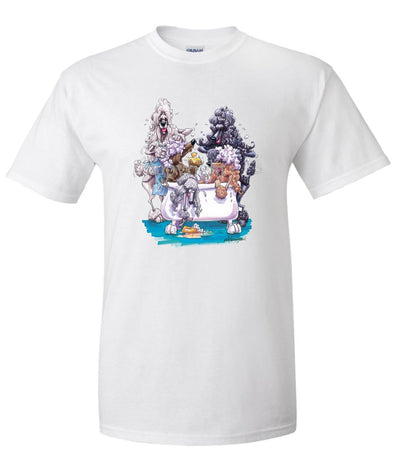 Poodle - Group Bathtub - Caricature - T-Shirt