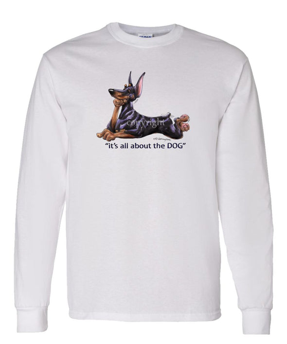 Doberman Pinscher - All About The Dog - Long Sleeve T-Shirt