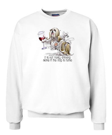 Lhasa Apso - It's Drinking Alone 2 - Sweatshirt