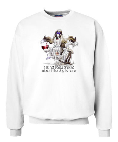Shih Tzu - It's Drinking Alone 2 - Sweatshirt