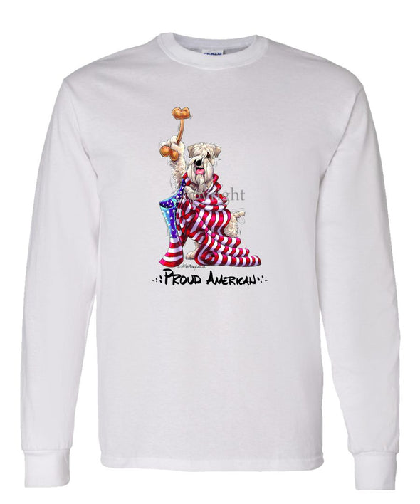 Soft Coated Wheaten - Proud American - Long Sleeve T-Shirt