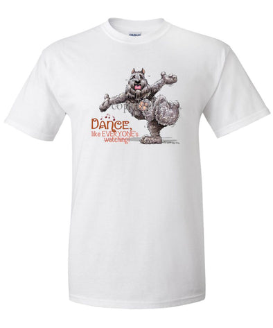 Bouvier Des Flandres - Dance Like Everyones Watching - T-Shirt