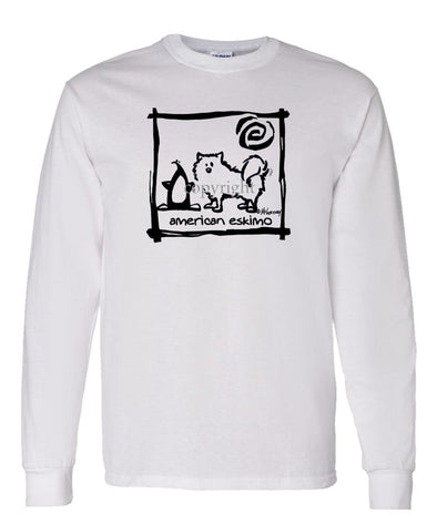 American Eskimo Dog - Cavern Canine - Long Sleeve T-Shirt