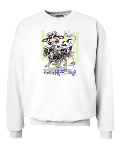Australian Cattle Dog - Who's A Happy Dog - Sweatshirt
