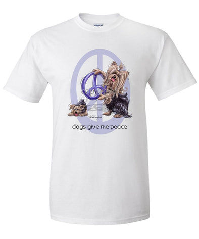 Yorkshire Terrier - Peace Dogs - T-Shirt