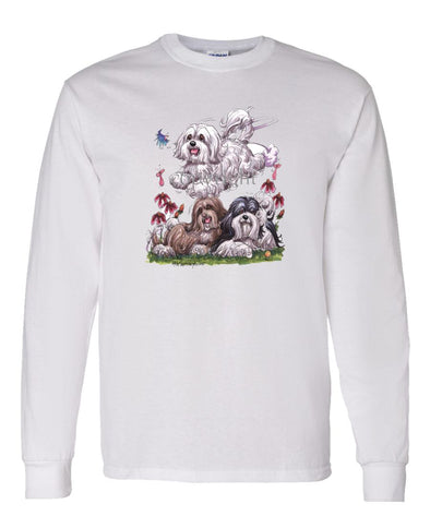 Havanese - Group - Caricature - Long Sleeve T-Shirt