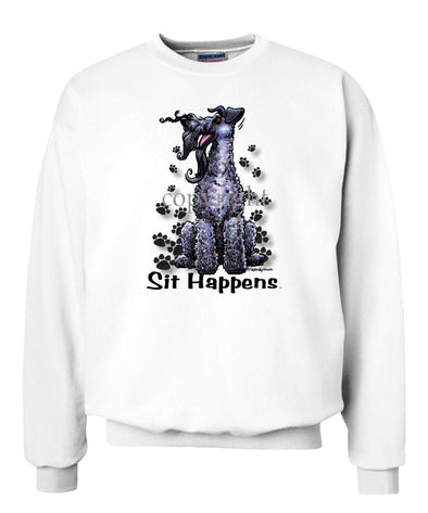 Kerry Blue Terrier - Sit Happens - Sweatshirt