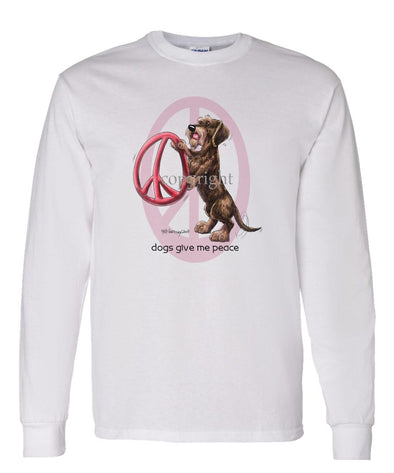 Dachshund  Wirehaired - Peace Dogs - Long Sleeve T-Shirt