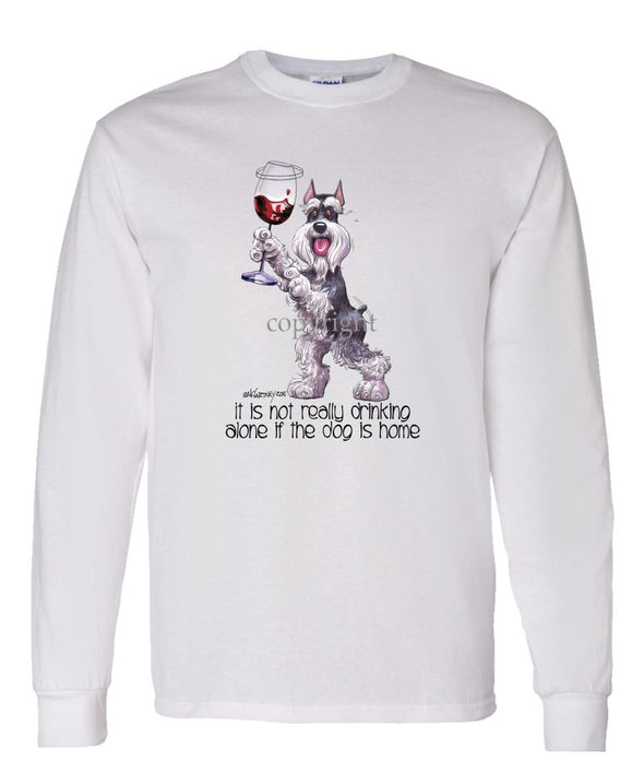 Schnauzer - It's Not Drinking Alone - Long Sleeve T-Shirt