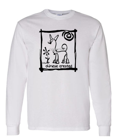 Chinese Crested - Cavern Canine - Long Sleeve T-Shirt