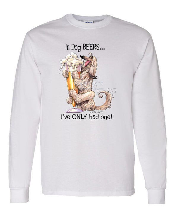 Afghan Hound - Dog Beers - Long Sleeve T-Shirt