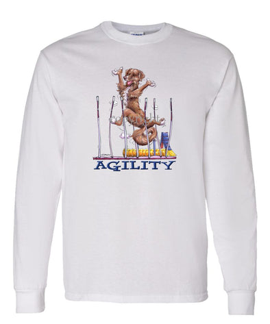 Nova Scotia Duck Tolling Retriever - Agility Weave II - Long Sleeve T-Shirt