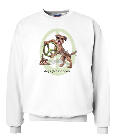 Border Terrier - Peace Dogs - Sweatshirt