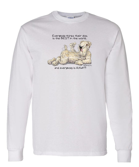 Soft Coated Wheaten - Best Dog in the World - Long Sleeve T-Shirt
