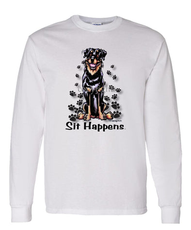 Rottweiler - Sit Happens - Long Sleeve T-Shirt