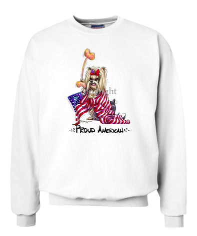 Yorkshire Terrier - Proud American - Sweatshirt