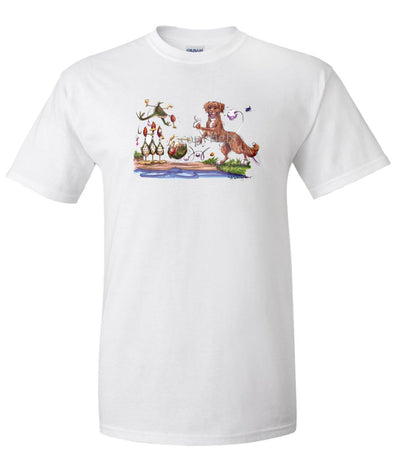 Nova Scotia Duck Tolling Retriever - Bowling Ducks - Caricature - T-Shirt