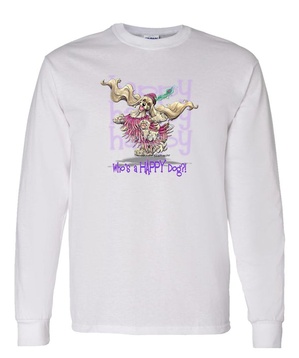 Cocker Spaniel - Who's A Happy Dog - Long Sleeve T-Shirt