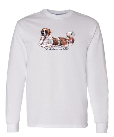 Saint Bernard - All About The Dog - Long Sleeve T-Shirt