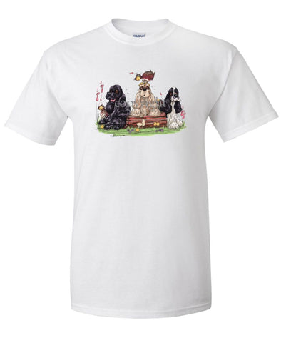 Cocker Spaniel - Group - Caricature - T-Shirt