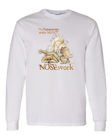 Pomeranian - Nosework - Long Sleeve T-Shirt