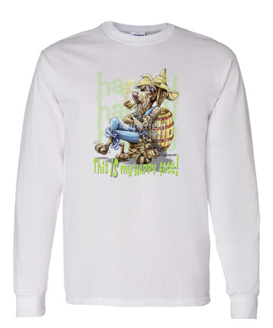 German Wirehaired Pointer - Who's A Happy Dog - Long Sleeve T-Shirt