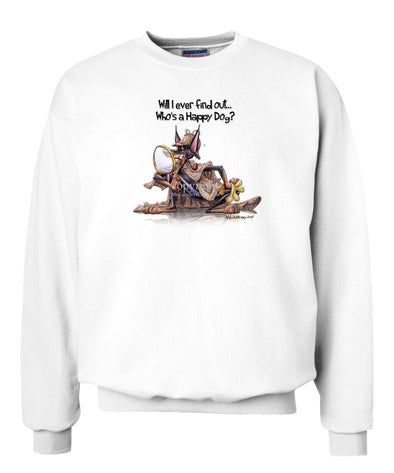 Doberman Pinscher - 2 - Who's A Happy Dog - Sweatshirt